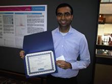Tarun Anumol with award