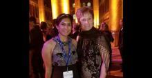Namrah Habib and Peggy Whitson
