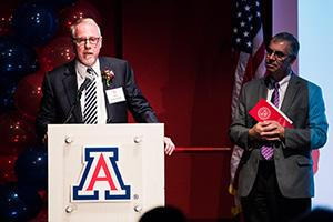 John Somerhalder accepts the 2016 College of Engineering Alumni of the Year Award on Oct. 28
