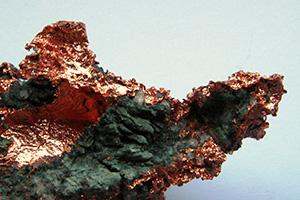 Raw copper ore. Photo from Wikimedia.