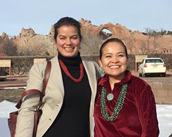 Paloma Beamer (Mel and Enid Zuckerman College of Public Health) and Karletta Chief (Department of Soil, Water and Environmental Sciences) in Window Rock, AZ. Photo courtesy of the UA Mel and Enid Zuckerman College of Public Health